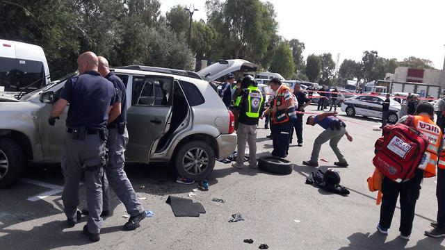 Scene of suspected attack (Photo: United Hatzalah)