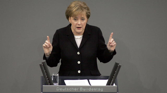 German Chancellor Merkel said the strike was 'necessary and appropriate' (Photo: AFP)