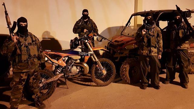 50 civilians portrayed Hezbollah terrorists in the IDF's drill (Photo: Yoav Zitun)