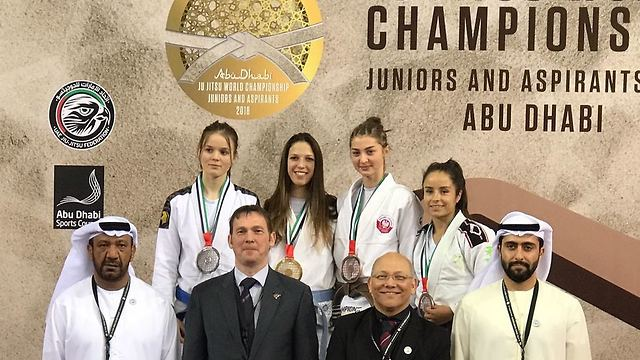 Meshi Rosenfeld (2nd left) won the gold (Photo: Ayelet Federation)