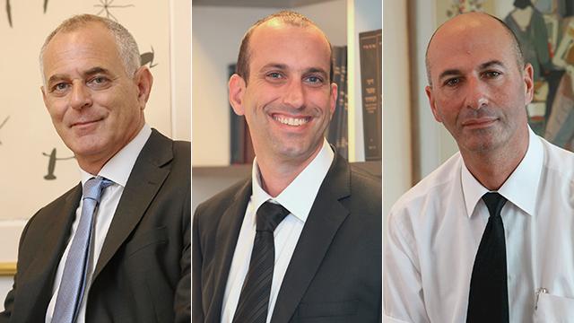 עורכי הדין נתי שמחוני, יובל נחמני ודרור ארד-איילון (צילום: יריב כץ) (צילום: יריב כץ)