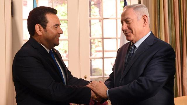 Morales with Prime Minister Benjamin Netanyahu in Washington (Photo: Haim ZachGPO)