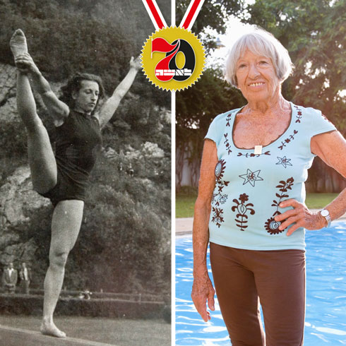 אגנס קלטי. קיבלה 10 מדליות אולימפיות (צילום: גל חרמוני, אלבום פרטי)
