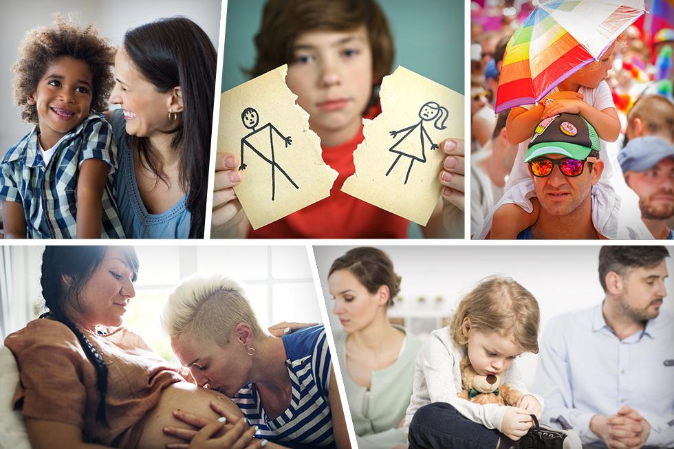 גירושים, הסכמי הורות, אימוץ, זוגות חד מיניים, פרק ב' ועוד. ברמה האישית - השינוי כבר כאן. ברמה המשפטית ובחקיקה - מנסים להדביק את הקצב (צילום: Shutterstock)