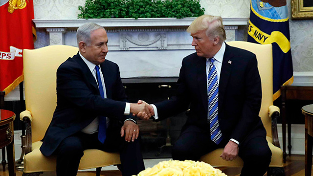 Netanyahu and Trump meet in the Oval Office (Photo: AFP)