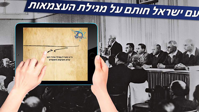 Цифровая подпись под текстом Декларации независимости