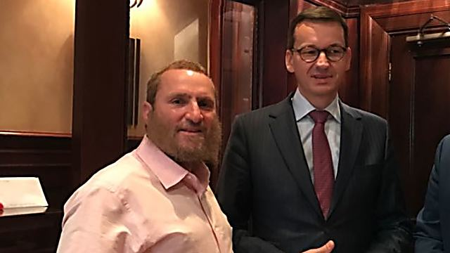 PM Morawiecki (R) wrote Rabbi Boteach about the crisis surrounding the Holocaust Law