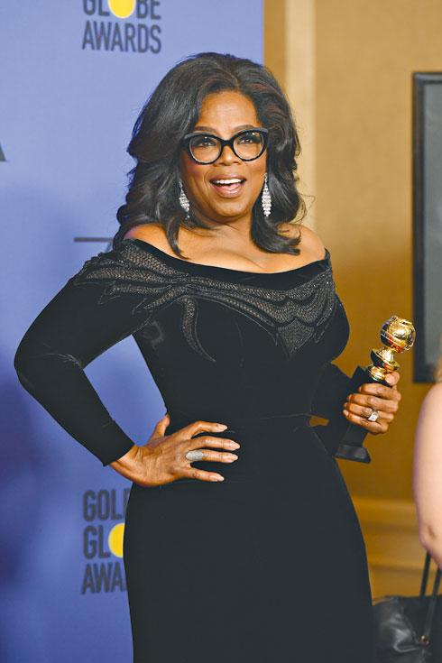 נאום מעורר השראה. אופרה מקבלת פרס מפעל חיים בטקס פרסי גלובוס הזהב האחרון (צילום: Gettyimages)