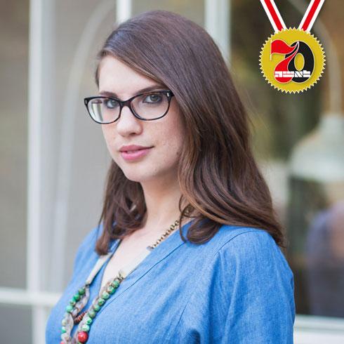 טל מאור זינגרמן. הבלוגרית הראשונה בישראל שמכרה את הבלוג שלה במיליון שקל (על פי פרסומים)  (צילום: טלי דברת)