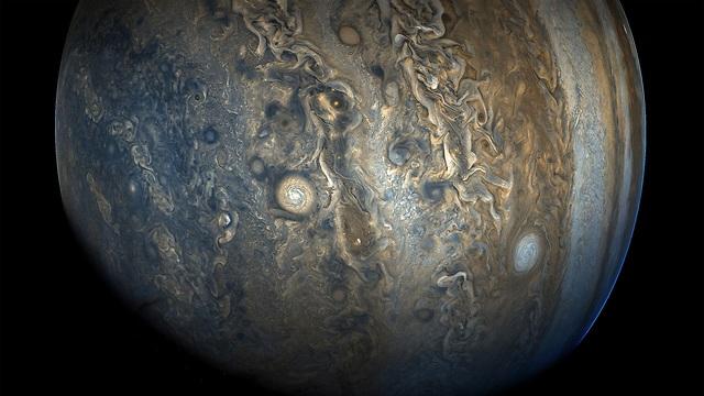 """צדק צריך להיראות: חצי הכדור הדרומי כפי שנקלט באחרונה בעדשת המצלמה של ג'ונו ממרחק של כ-33 אלף קילומטר  (צילום: נאס""""א) (צילום: נאס"""