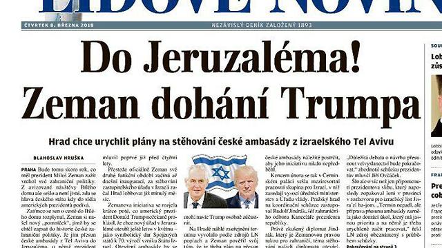 Lidové noviny newspaper report