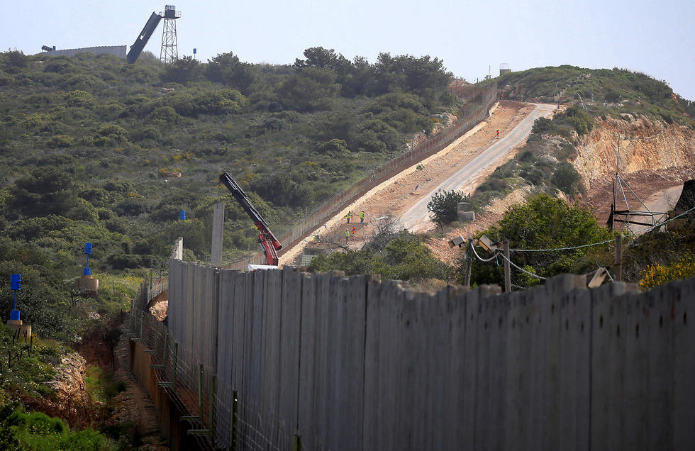 The border wall Israel is building on the Blue Line