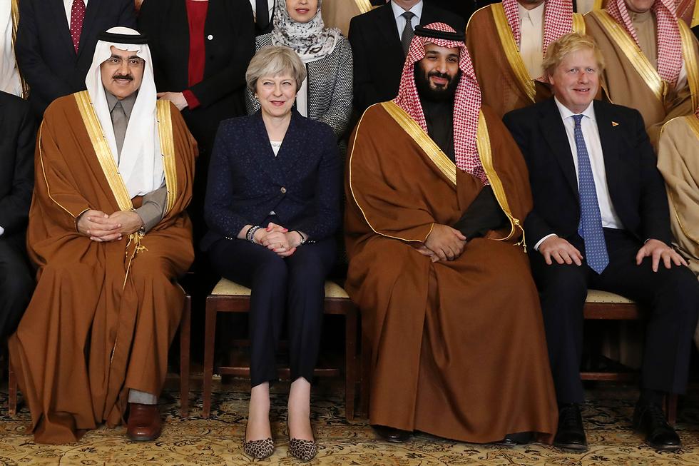 Тереза Мэй, Мухаммед Бин-Салман и глава МИД Борис Джонсон. Фото: АР