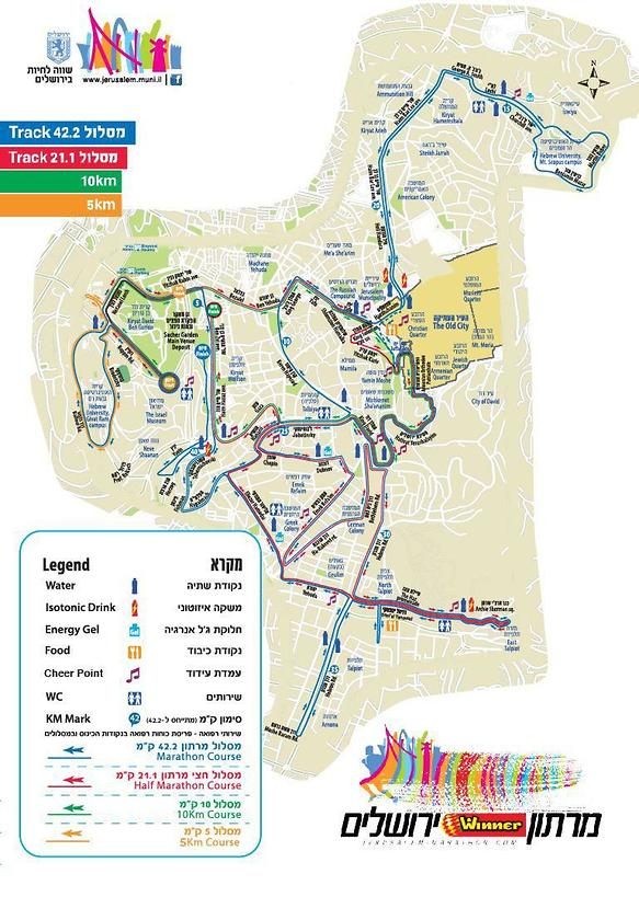 Marathon route map