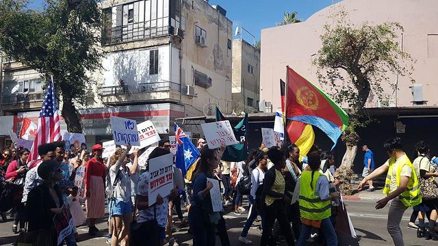 הפגנה בדרום תל אביב ()