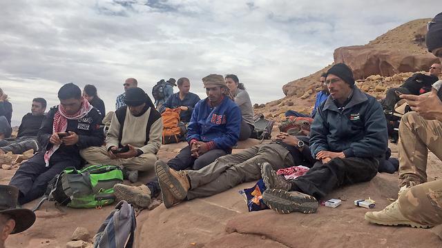כמה מהירדנים שלקחו חלק במסע (צילום: גלעד כרמלי) (צילום: גלעד כרמלי)
