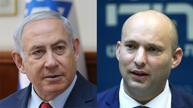 Bennett urged Netanyahu to convene the Ministerial Committee for Legislation the same day, but the prime minister refused (Photos: Ohad Zwigenberg, Alex Kolomoisky)