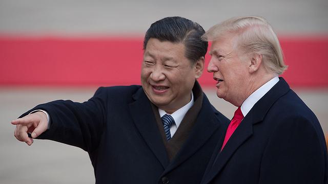 דונלד טראמפ עם נשיא סין שי ג'ינפינג (צילום: AFP) (צילום: AFP)