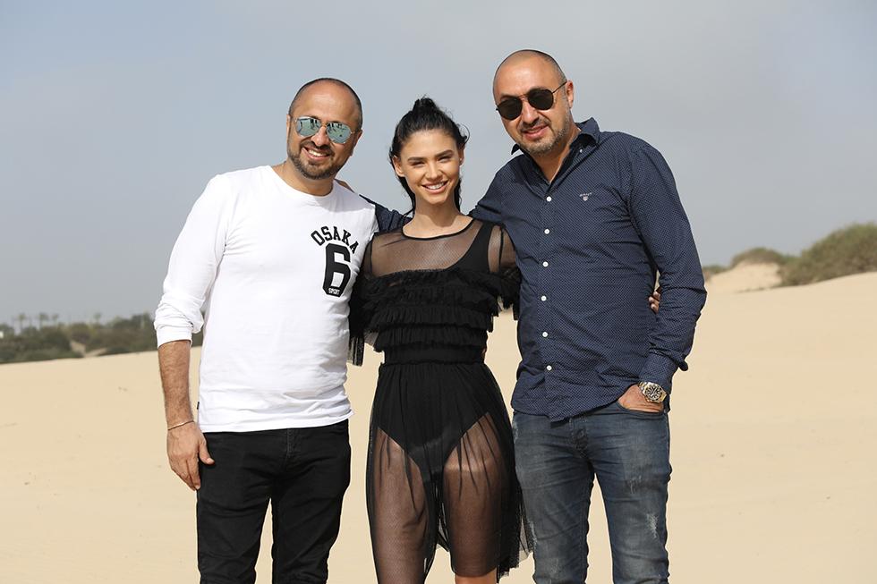 רוסלנה עם רוני ופרדי אינסאז (צילום: שי יחזקאל) (צילום: שי יחזקאל)