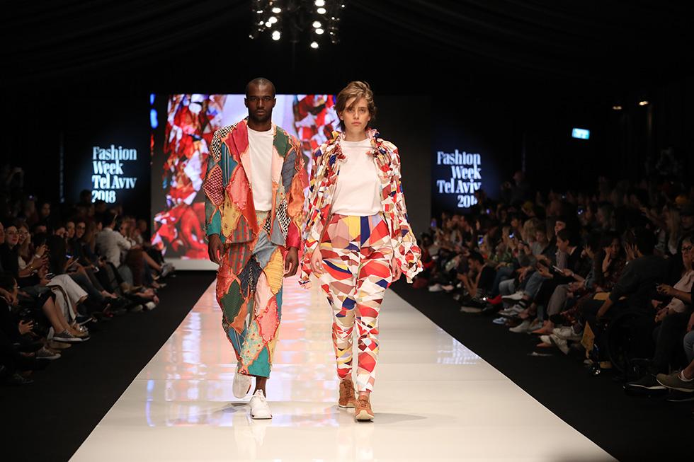 תצוגת האופנה של שנקר. מימין: אור פז. משמאל: אדווה בן ישי (צילום: אורית פניני)