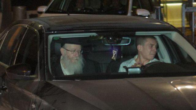 ליצמן בצאתו מהפגישה (צילום: הלל מאיר / TPS)