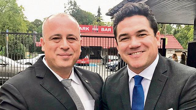 MK Bar (L) invited his friend Dean Cain to visit Israel