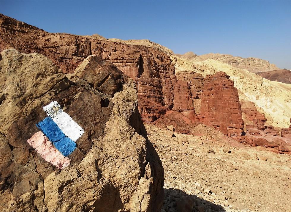 שביל ישראל בערבה (צילום: דב גרינבלט, החברה להגנת הטבע)