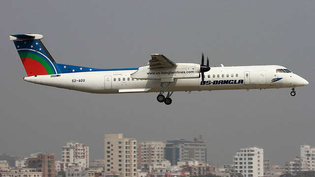 המטוס של חברת התעופה US-Bangla יכול לשאת 78 נוסעים ()