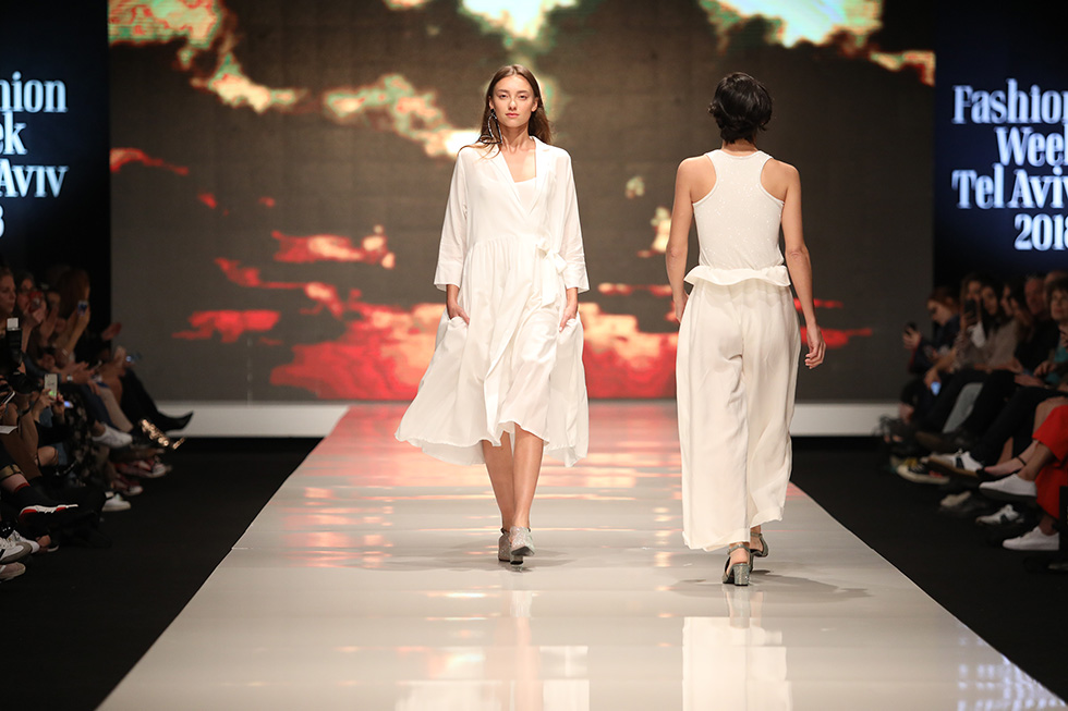 נושאת דגל הייצור המקומי. התצוגה של דורין פרנקפורט בשבוע האופנה הקודם בתל אביב (צילום: אורית פניני)