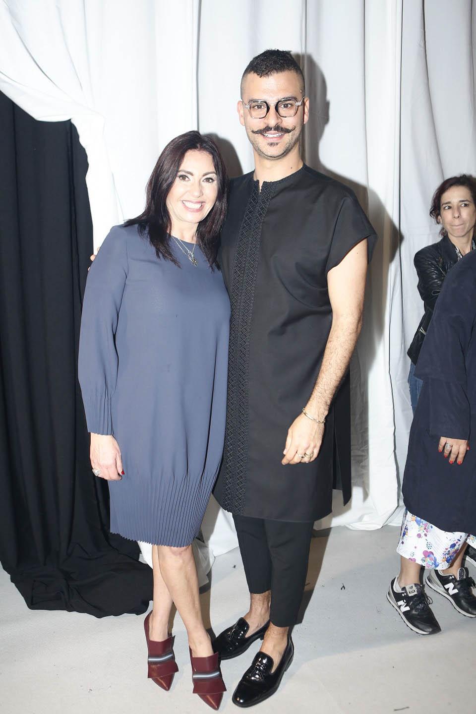 Министр культуры и спорта Мири Регев с Дрором Контенто перед показом. Фото: Гиль Коэн
