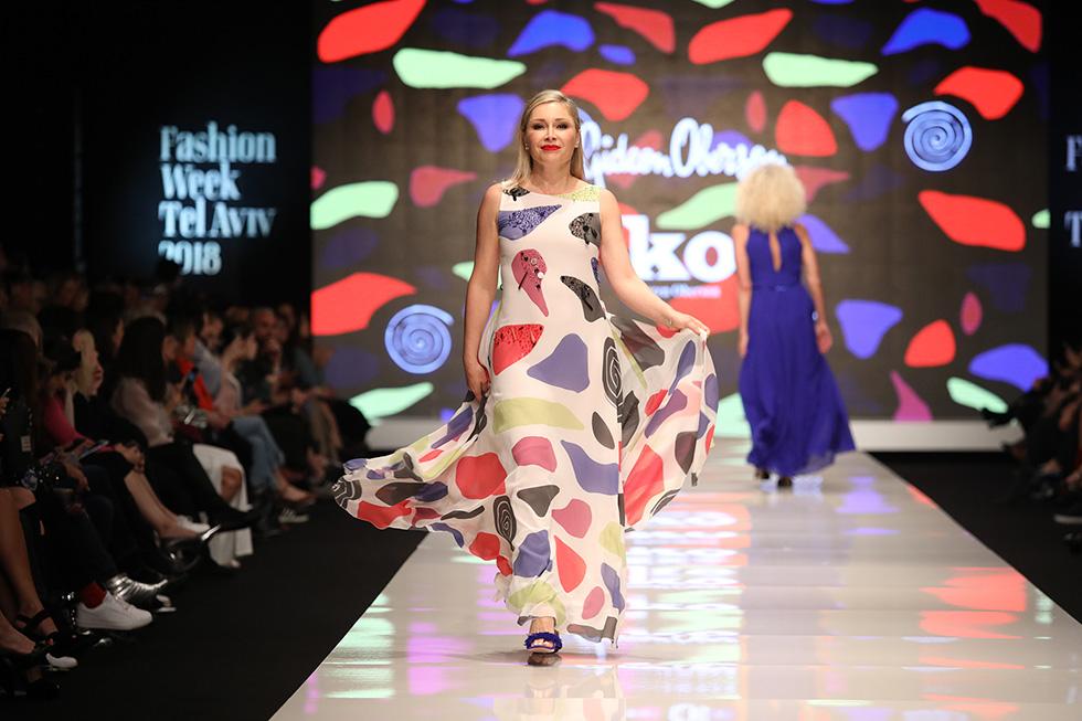 את הכי יפה כשנוח לך. לובה יעקובסון בתצוגת האופנה של גדעון וקארן אוברזון (צילום: אורית פניני)