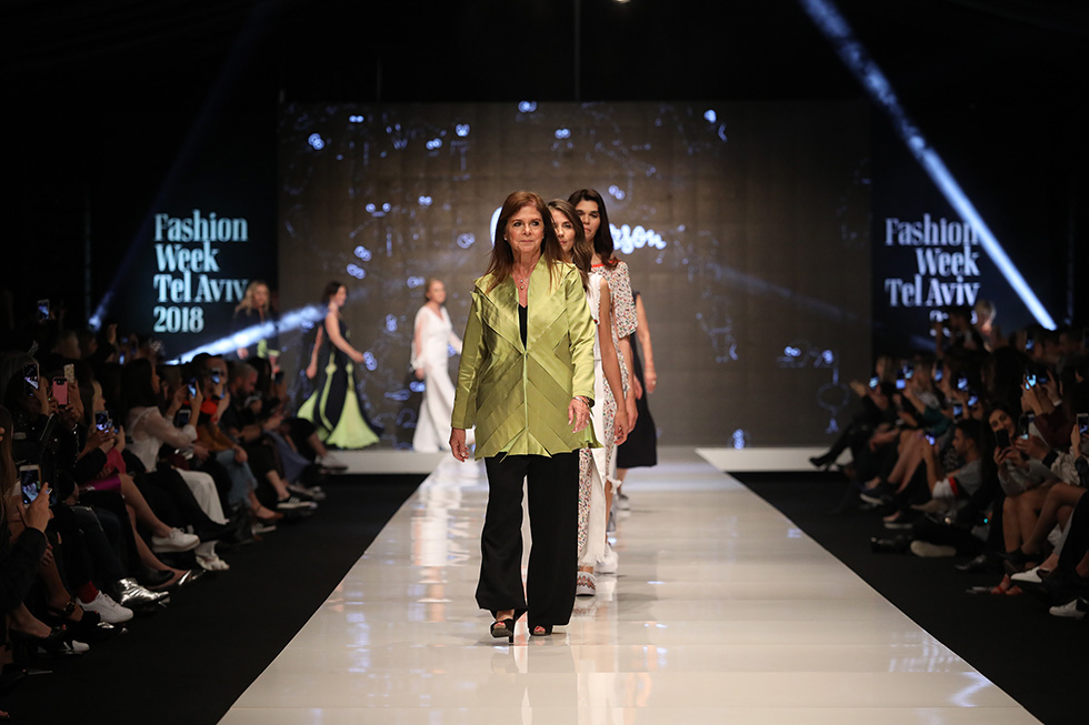 דליה רבין מובילה את הקולקציה של גדעון אוברזון  (צילום: אורית פניני)