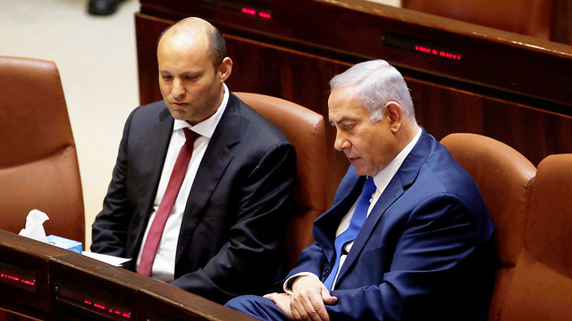 Benjamin Netanyahu and Naftali Bennett in the Knesset in 2018 (Photo: Reuters/Archive) (Photo: Reuters)