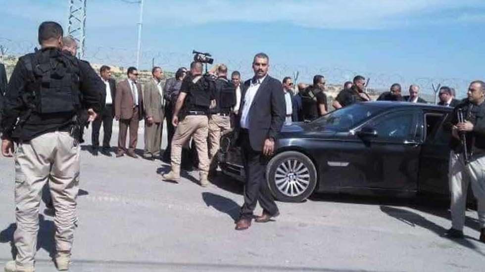 The convoy, upon entering the Gaza Strip
