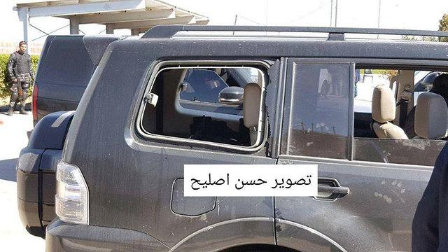 הפיצוץ פגע ברכב המאבטחים בשיירה