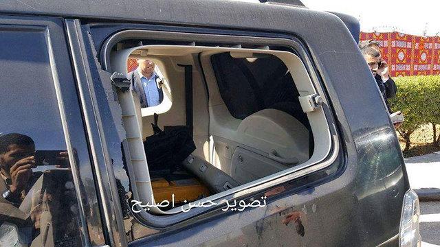 רכב המאבטחים בשיירת ראש הממשלה