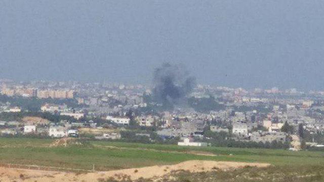 הפיצוץ כפי שנצפה מעוטף עזה (צילום: אופק)