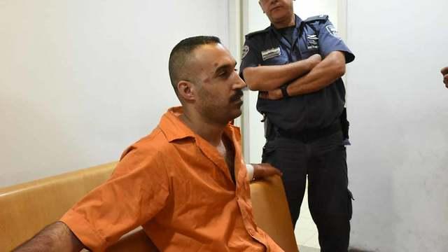 רום מרשי בהארכת המעצר (צילום: אביהו שפירא) (צילום: אביהו שפירא)