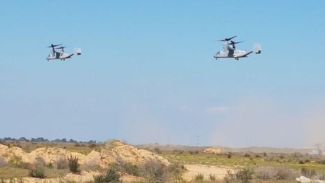 Конвертопланы V-22 Osprey в израильском небе. Фото: Йоав Зейтун (Photo: Yoav Zitun)