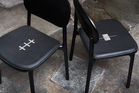 ריקמה מסורתית בריפודי הכסאות (צילום: Almin Zrno באדיבות: ZANAT)