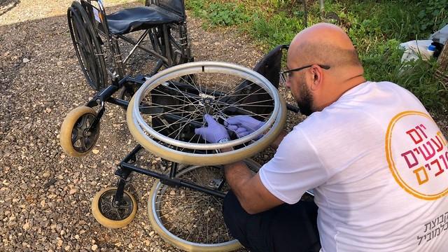 מתקנים כיסאות גלגלים, פרדס גן חיים ()