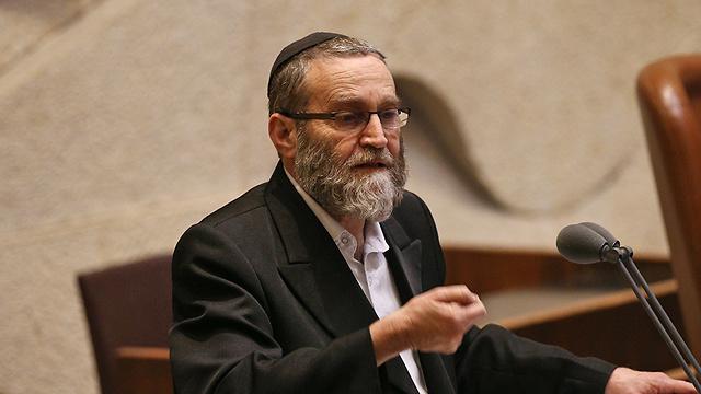 MK Moshe Gafni (Photo: Ohad Zwigenberg)