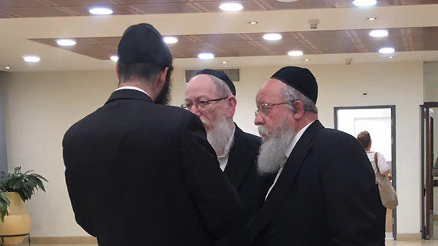 חברי הכנסת ליצמן ומוזס מיהדות התורה (צילום: מורן אזולאי)