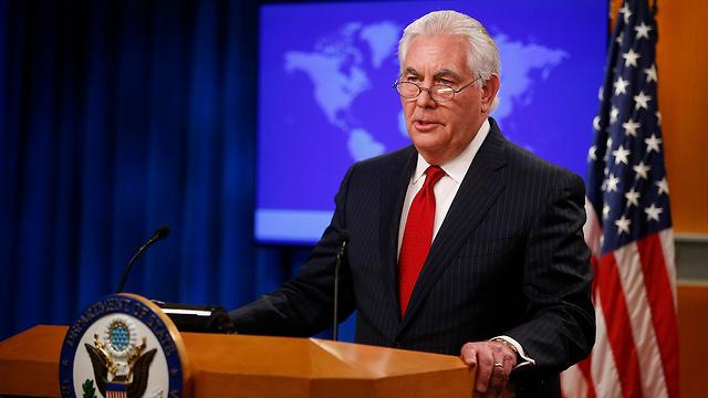 מזכיר המדינה המודח טילרסון, הערב. עוזב את הזירה הפוליטית (צילום: רויטרס)