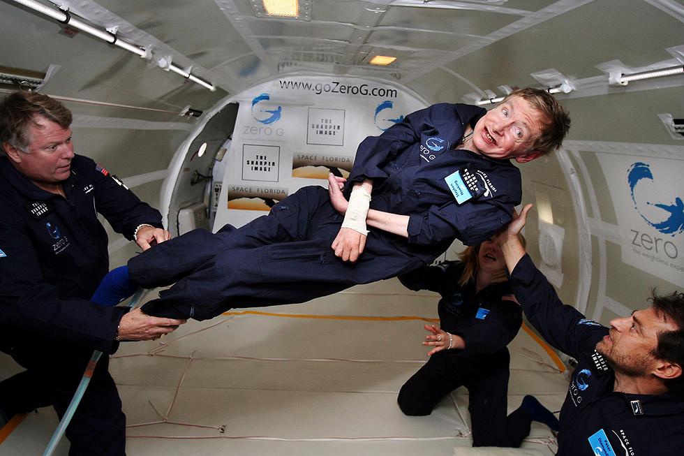הוקינג באימוני האסטרונאוטים (צילום: AFP / ZERO G   ) (צילום: AFP / ZERO G   )