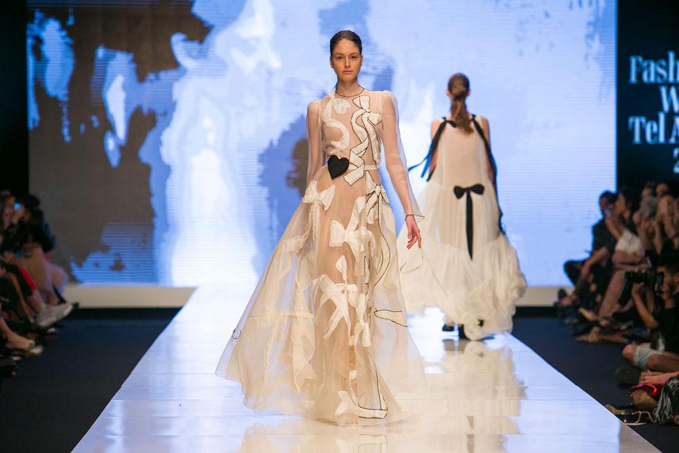 קולקציה שהיתה זוכה לתשואות גם אם היתה מוצגת בגרנד פאלה בשבוע האופנה בפריז (צילום: ענבל מרמרי)