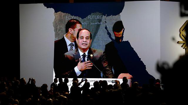 הנשיא נואם בשארם א-שייח (צילום: AP)