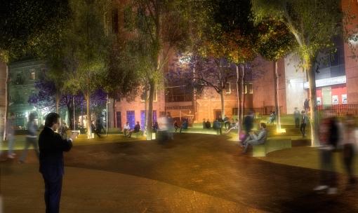 Сионская площадь ночью будет красиво посвечена