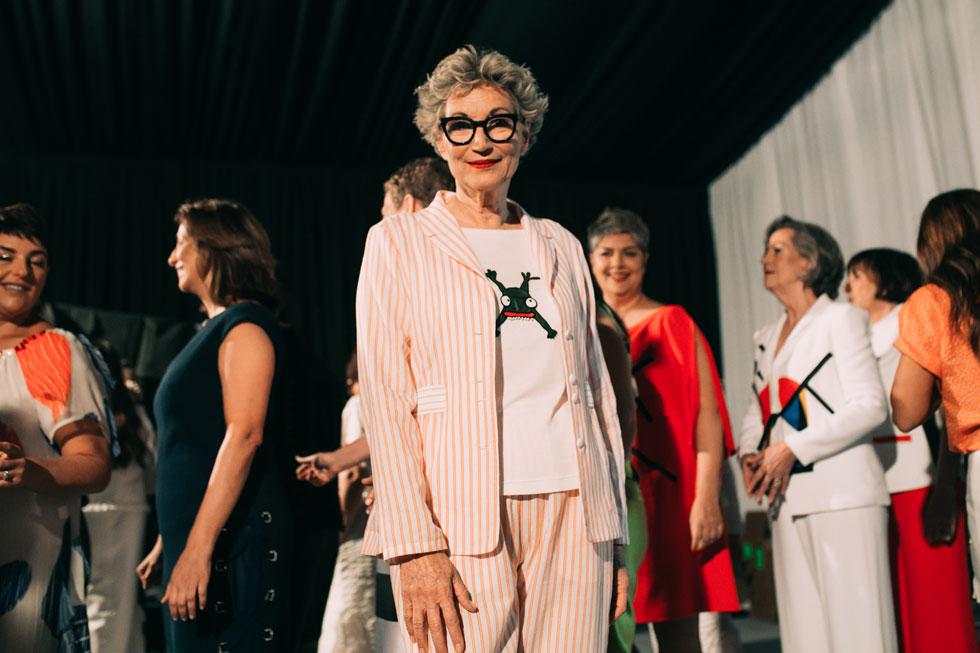 מאחורי הקלעים בתצוגה של גדעון וקארן אוברזון: גם נשים מבוגרות יכולות להיות דוגמניות (צילום: עדי סגל)