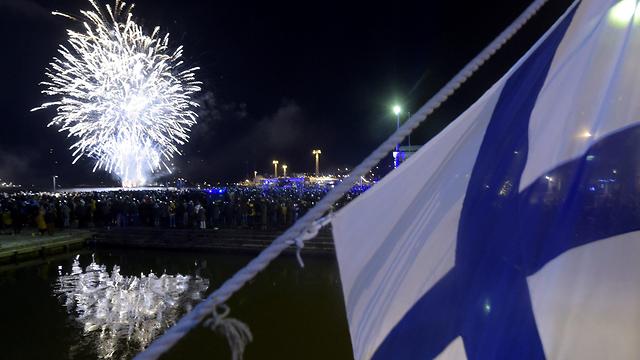 חגיגות יום העצמאות בהלסינקי (צילום: רויטרס)